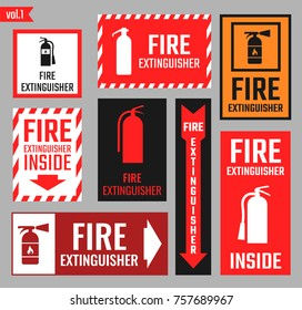 Sign of the fire extinguisher