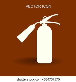 sign fire extinguisher icon vector illustration