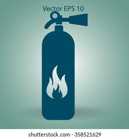 sign fire extinguisher used for other purposes vector icon