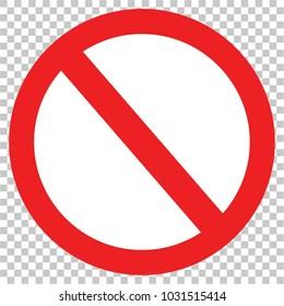 sign forbidden, vector