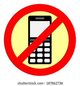Sign forbidding to use the phone. Eps 10.