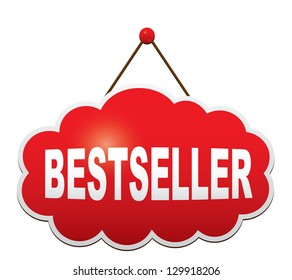 Sign in the form of a cloud - Bestseller. Vector