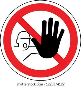 Signer en France : n'entrez pas de signe. Icône de cercle rouge d'avertissement isolée sur fond blanc. Concept d'interdiction.