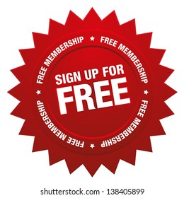 Sign up for free button
