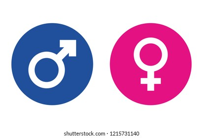 Sign of gender difference. Man and woman.