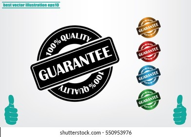 Sign guarantee vector illustration eps10. Sticker 100 percent quality.