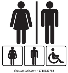 sign icon male and female toilet. Vector illustration