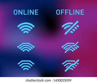 sign icon online and offline