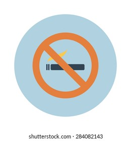Sign, icon smokes smoking, no smoking, sigreta. Vector