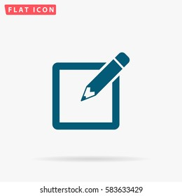 Sign up Icon Vector. Flat simple Blue pictogram on white background. Illustration symbol with shadow