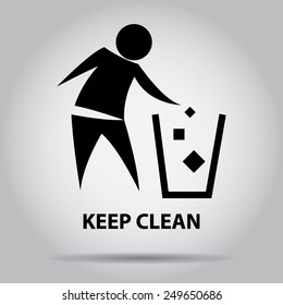 Sign of Keep Clean, symbol.