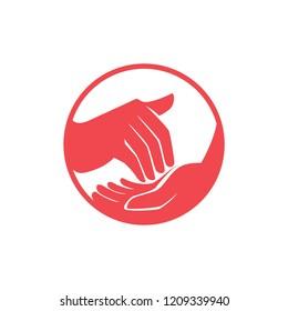 sign language interpreter logo. vector illustration