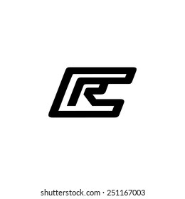 Sign of the letter C and R Branding Identity Corporate logo design template Isolated on a white background