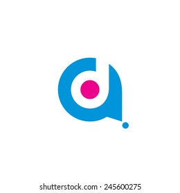 Sign of the letter A and D Branding Identity Corporate logo design template Isolated on a white background