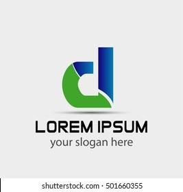Sign of the letter D Branding Identity Corporate logo design