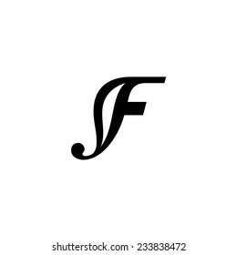 Sign the letter F Branding Identity Corporate vector logo design template Isolated on a white background