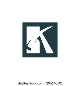 Sign of the letter K Branding Identity Corporate vector logo design template Isolated on a white background