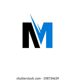Sign of the letter M Branding Identity Corporate vector logo design template Isolated on a white background