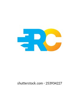 Sign of the letter R and C Branding Identity Corporate vector logo design template Isolated on a white background