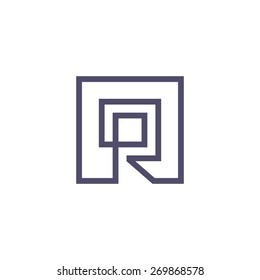 Sign of the letter R. Vector Illustration. Branding Identity Corporate vector logo design template Isolated on a white background