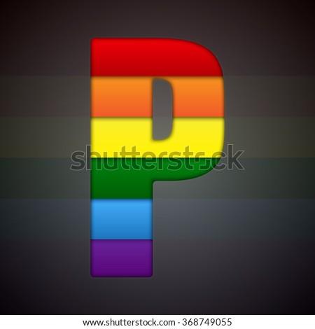 Sign LGBT Letter P LGBT Commun...