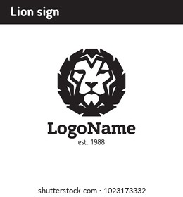Sign of the lion's face, symbolizes confidence and strength