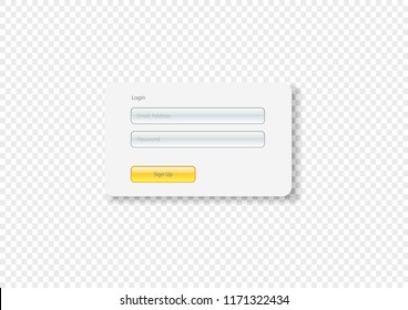 Sign Up Login Login background - Login form, ui interface element, sign in button, username password