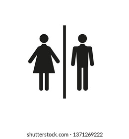 Sign of man and woman for toilet. Simple vector illustration.