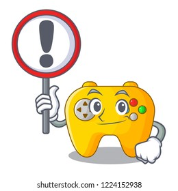 With sign modern game shaped controller cartoon wood