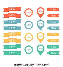 Sign New labels collection. Vector illustration
