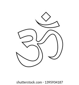 the sign ohm icon. Element of India for mobile concept and web apps icon. Outline, thin line icon for website design and development, app development