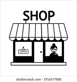 sign on a shop windowsign on a shop window