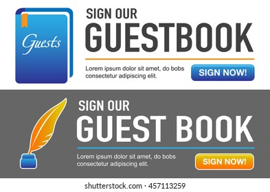 Sign our Guestbook CTAs