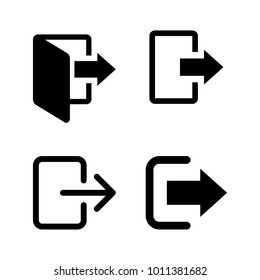 Sign Out, Logout Icon Vector Template