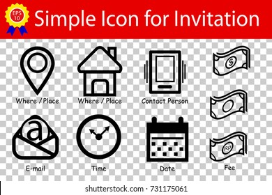 Gala invitation stock vectors images vector art shutterstock sign place time date contact fee email address at stopboris