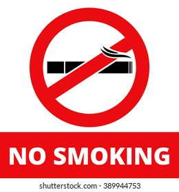 Sign for printing Banning Smoking Vector