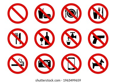 sign prohibiting the introduction of various items into a particular institution. Vector ESP10