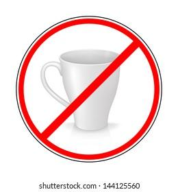 sign prohibiting mug