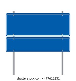 sign road blue Blank  vector illustration