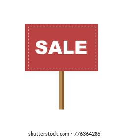Sign for Sale vector illustration