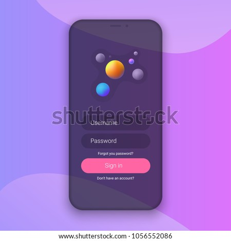 Sign Screen Clean Mobile UI Design Stock Vector (Royalty Free