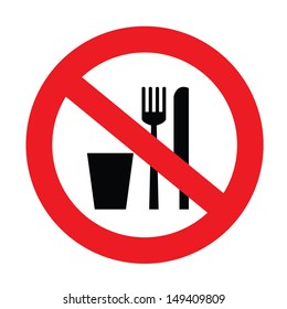 a sign showing no food and drink allowed