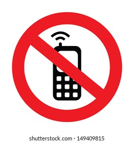 a sign showing to on your mobile phone on silent mode