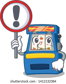 With sign slot machine in the mascot shape