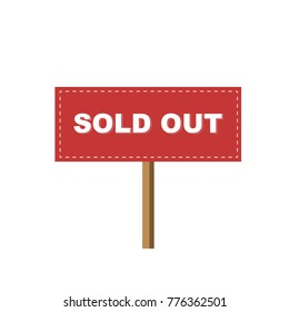 Sign Sold out information notice