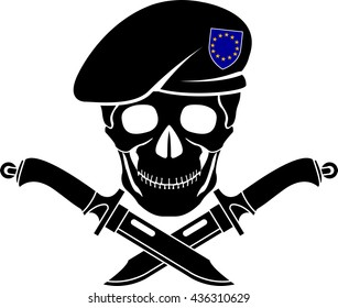 sign of special forces of EU. vector illustration