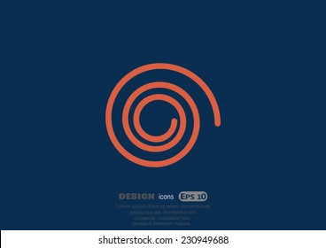 sign spin cycle, web icon. vector design