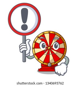 With sign spinning wheel game the mascot shape