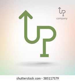Sign up for stock exchange company, business logo