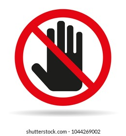 the sign of the stop icon on white background. Vector illustration